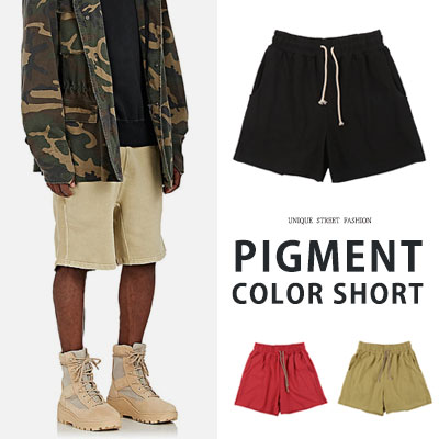 [UNISEX] PIGMENT COLOR SHORT PANTS(3color)