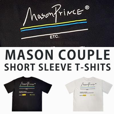 [UNISEX] MASON COUPLE SHORT SLEEVE TSHIRTS(2colos 2size)