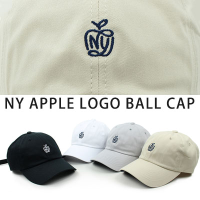 [UNISEX] NY APPLE EMBROIDERY BALL CAP(4color)