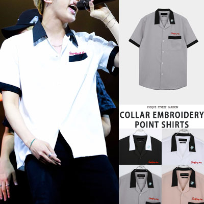 BTS/JIN/SEOKJIN st. EMBROIDERY POINT SHIRTS (color)