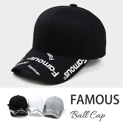 [UNISEX] FAMOUS BALL CAP(3color)