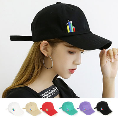 [UNISEX] GRAPH EMBROIDERY BALL CAP(6color)