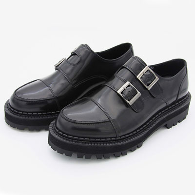 [23.0 ~ 28.0cm] DOUBLE MONK STRAP COWHIDE SHOES