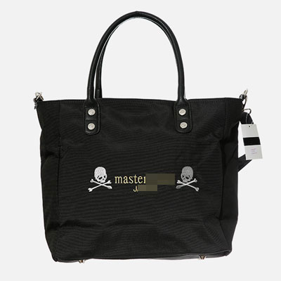 TWIN SKULL EMBROIDERY TWO WAY BAG