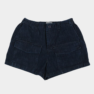 FRONT POCKET DENIM SHORT JEANS(2size)