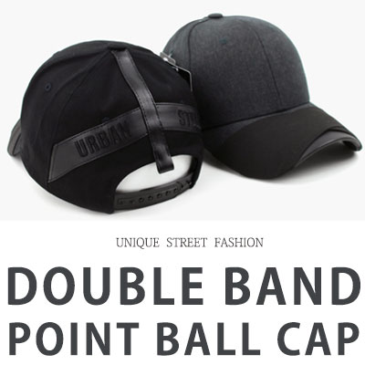 [UNISEX] DOUBLE BAND POINT BALL CAP(2color)