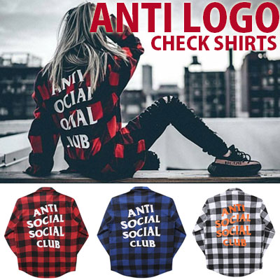[unisex]CLUB LOGO CHECK SHIRTS(3color)