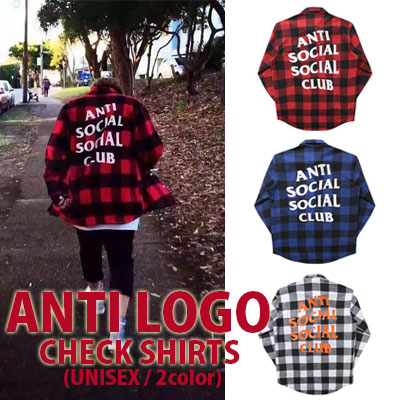 [unisex]CLUB LOGO CHECK SHIRTS(3color)