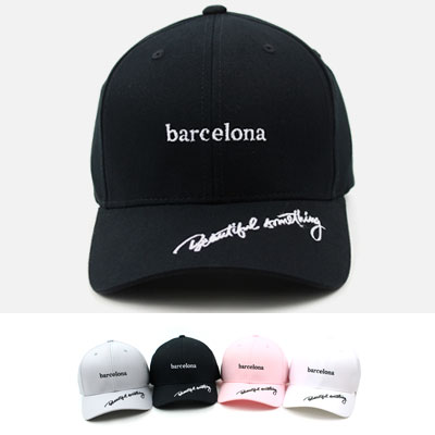 [UNISEX] BARCELONA POINT BALL CAP(4color)