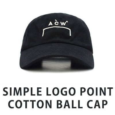 [UNISEX] SIMPLE LOGO POINT COTTON BALL CAP