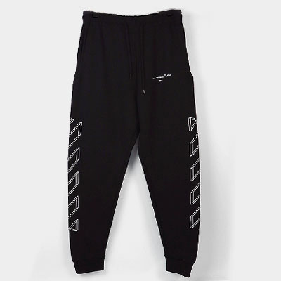 [UNISEX] 3D WHITE LINE ARROW PRINT JOGGER PANTS