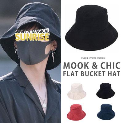 [UNISEX] BTS SUGA st. MOOK CHIC FLAT BUCKET HAT(4color)