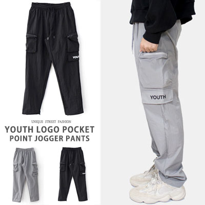 YOUTH LOGO POCKET POINT JOGGER PANTS(2color)
