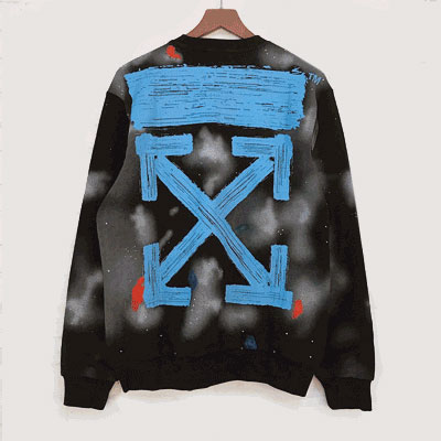 [UNISEX] BLUE PAINTING ARROW SWEATSHIRTS