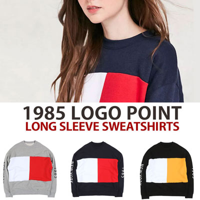 [UNISEX] 1985 NEWYORK ARM PRINT POINT SWEATSHIRTS(3color)