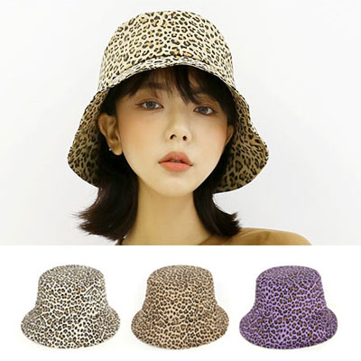 [UNISEX] LEOPARD PATTERN BUCKET HAT(3type)