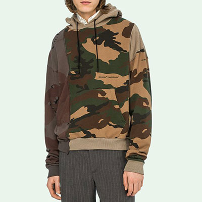 [UNISEX] CAMO PATTERN PULLOVER HOODIE