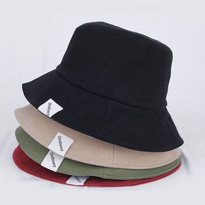 [UNISEX] ORDINARY TAPE PATCH BUCKET HAT(4color)