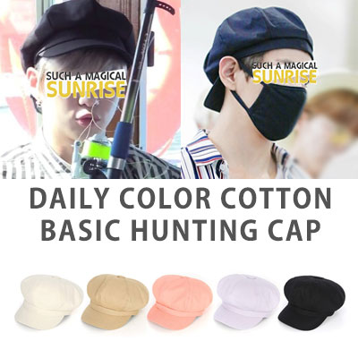 [UNISEX] wannaone/kangdaniel/bts/v st. DAILY COLOR COTTON BASIC HUNTING CAP(5color)
