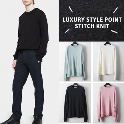 [UNISEX] LUXURY STYLE POINT STITCH KNIT(4color)