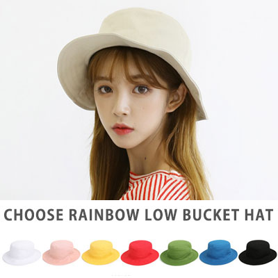 [UNISEX] CHOOSE RAINBOW COLOR LOW BUCKET HAT(8color)