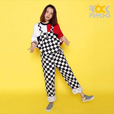【ROCK PSYCHO】 CHECKERBOARD JUMP SUIT
