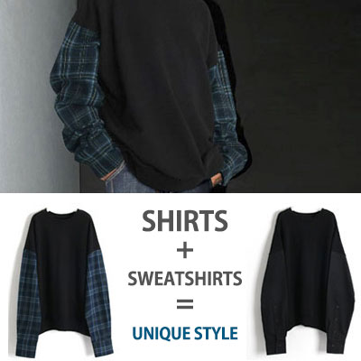 [UNISEX] SLEEVE SHIRTS SWEATSHIRTS (2color)