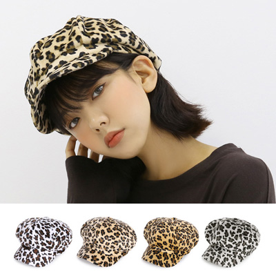 [UNISEX] LEOPARD PATTERN BERET(4color)