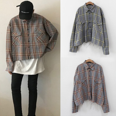 [UNISEX] Wild Crop Check Shirt(2color)