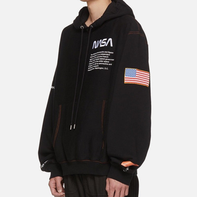 [UNISEX] NASA ORANGE LINE ANNIVERSARY PULLOVER HOOD(2color)