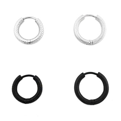 [Surgical-Steel]Snake skin one-touch ring piercing(2size/2type)