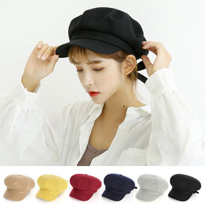 [UNISEX] Back Ribbon Point Hunting Cap(5color)
