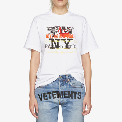 [UNISEX] Love NY Logo Point Shot Sleeve T-shirt