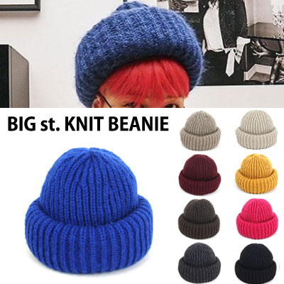 [UNISEX] BIGBANG/GD/G-DRAGON st./BIG KNIT BEANIE(9color)