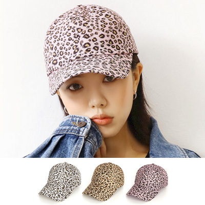[UNISEX] LEOPARD PATTERN BALL CAP(3color)