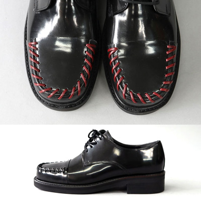 [24.5 ~ 28.0cm] BLACK&RED STITCH FORMAL BLACK LOAFER(2color)