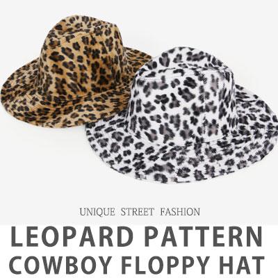 [UNISEX] Leopard Fedora Print Floppy Hat (2color)