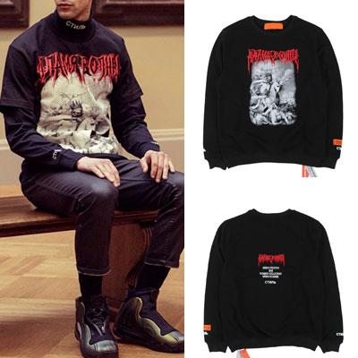 [UNISEX]Kanye Style! SkullL Napoleon print long sleeve sweatshirts