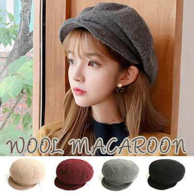 [WOOL100%] MACAROON NEWS BOY CAP(4color)