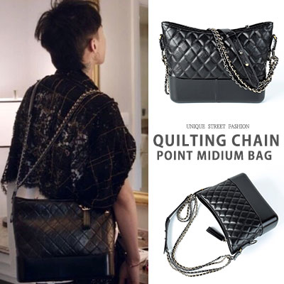 G-DRAGON st. QUILTING CHAIN POINT MEDIUM BAG