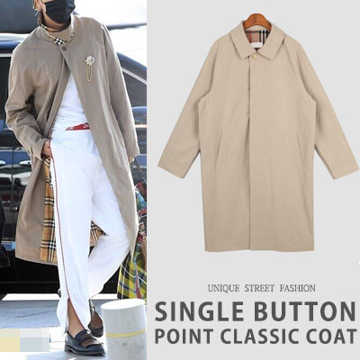 WINNER MINO st. SINGLE BUTTON POINT CLASSIC COAT(2color)