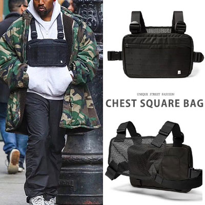 [UNISEX] KANYE STYLE. CHEST SQUARE BAG
