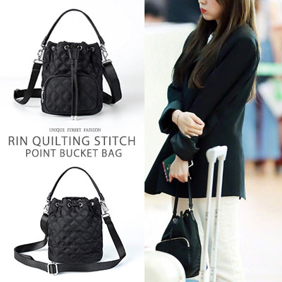 Redvelvet Irene st. [XS-Size] QUILTING STITCH POINT BUCKET BAG