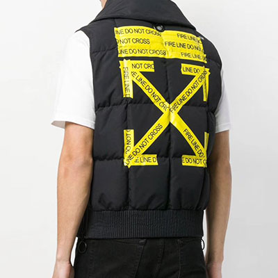 [UNISEX] YELLOW ARROW BLACK POINT PADDED VEST(2size)