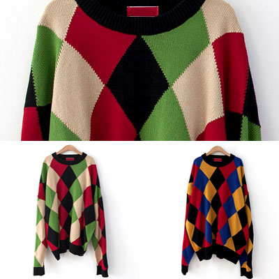 [UNISEX] AGAIL STYLE PATTERN OVERSIZE KNIT(2color)