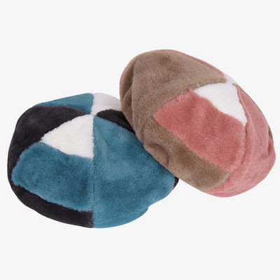 [UNISEX] SCHEME FUR PIECE BERET(2color)
