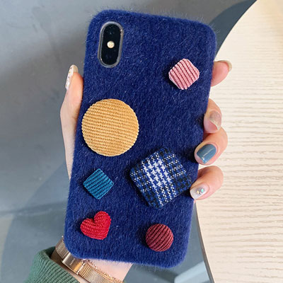 CORDUROY CIRCLE SQUARE PHONE CASE