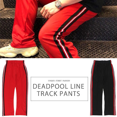 [UNISEX] DEADPOOL LINE TRACK PANTS(2color)
