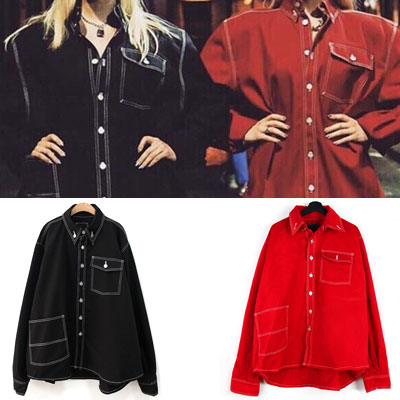 [UNISEX] OVERSIZE FIT WORK JACKET SHIRTS(2color)