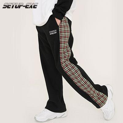 【SETUP-EXE】Check Pants - Black